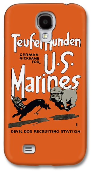 Teufel Hunden - German Nickname For Us Marines Galaxy S4 Case by War Is Hell Store