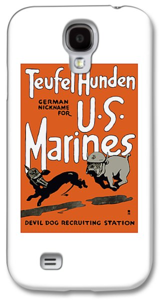 Patriotic Mixed Media Galaxy S4 Cases - Teufel Hunden - German Nickname For US Marines Galaxy S4 Case by War Is Hell Store