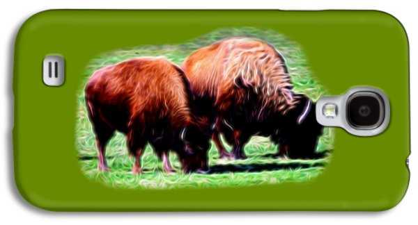 Bison Digital Galaxy S4 Cases - Texas Bison Galaxy S4 Case by Linda Phelps