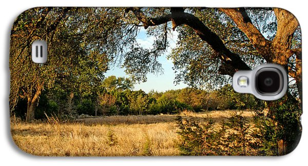 Landscapes Photographs Galaxy S4 Cases - Texas Live Oak Swale Galaxy S4 Case by Bill Morgenstern