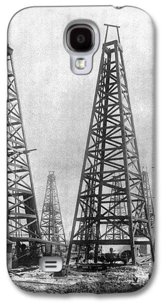 Industry Galaxy S4 Cases - TEXAS: OIL DERRICKS, c1901 Galaxy S4 Case by Granger