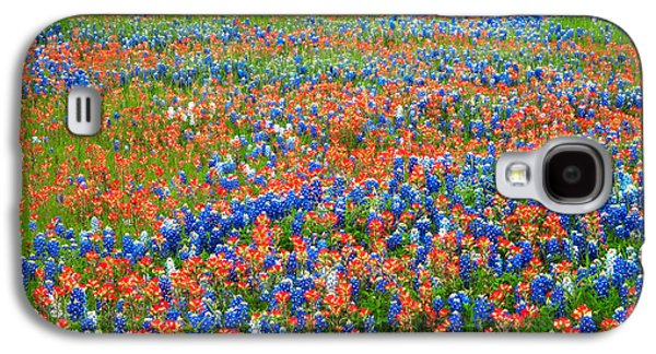 Landscapes Photographs Galaxy S4 Cases - Texas Wildflowers Galaxy S4 Case by David and Carol Kelly