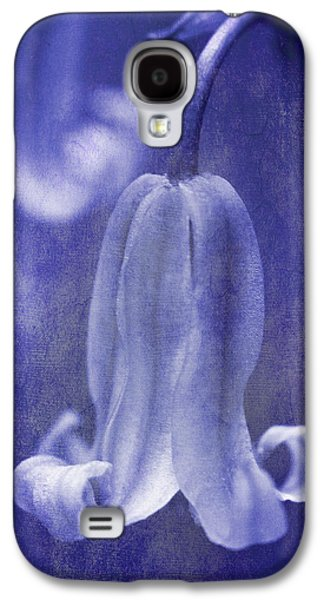 Textured Bluebell In Blue Galaxy S4 Case by Meirion Matthias