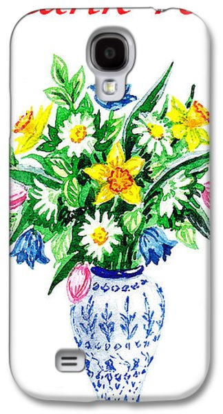 Receive Paintings Galaxy S4 Cases - Thank You Flowers In The Vase Galaxy S4 Case by Irina Sztukowski