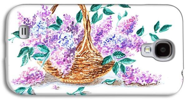 Receive Paintings Galaxy S4 Cases - Thank You Lilac Flowers Galaxy S4 Case by Irina Sztukowski