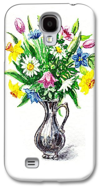 Receive Paintings Galaxy S4 Cases - Thank You Spring Flowers Galaxy S4 Case by Irina Sztukowski