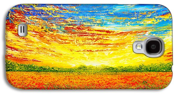 Sunset Abstract Galaxy S4 Cases - That Time Of The Year Galaxy S4 Case by Teresa Wegrzyn