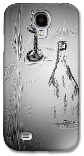 Contemporary Abstract Drawings Galaxy S4 Cases - That Was Good Galaxy S4 Case by John Krakora