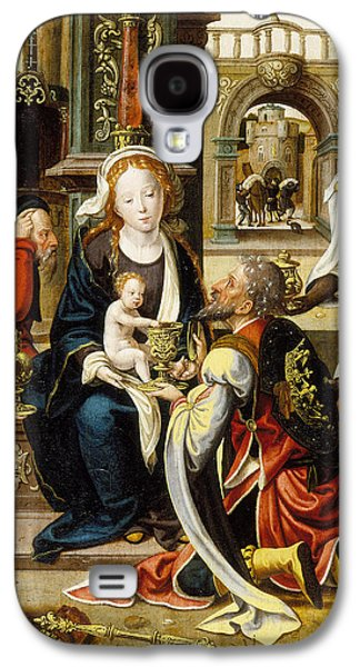 Christ Child Galaxy S4 Cases - The Adoration of the Magi Galaxy S4 Case by Pieter Coecke van Aelst