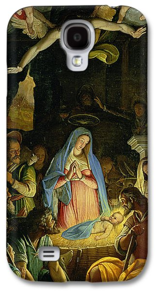 Manger Galaxy S4 Cases - The Adoration of the Shepherds Galaxy S4 Case by Federico Zuccaro