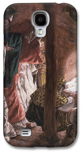 Manger Galaxy S4 Cases - The Adoration of the Wise Men Galaxy S4 Case by Tissot