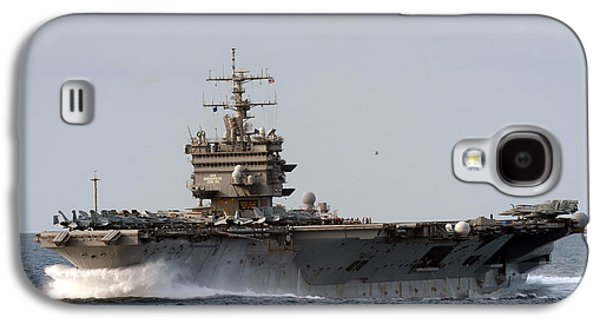 Enterprise Paintings Galaxy S4 Cases - the aircraft carrier USS Enterprise Galaxy S4 Case by Celestial Images