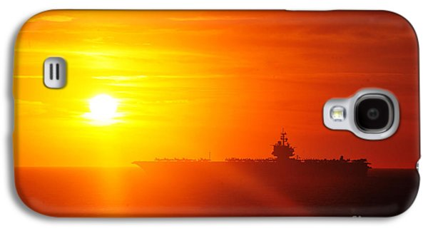 Enterprise Paintings Galaxy S4 Cases - The aircraft carrier USS Enterprise is underway Galaxy S4 Case by Celestial Images