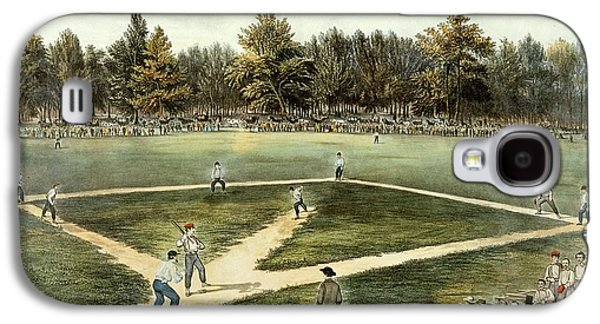 The American National Game Of Baseball Grand Match At Elysian Fields Galaxy S4 Case by Currier and Ives