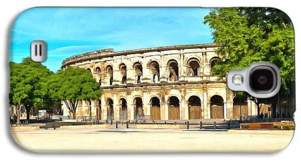 Ancient Galaxy S4 Cases - The Amphitheatre Nimes Galaxy S4 Case by Scott Carruthers