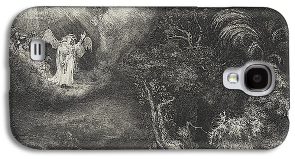 The Angel Appearing To The Shepherds Galaxy S4 Case by Rembrandt