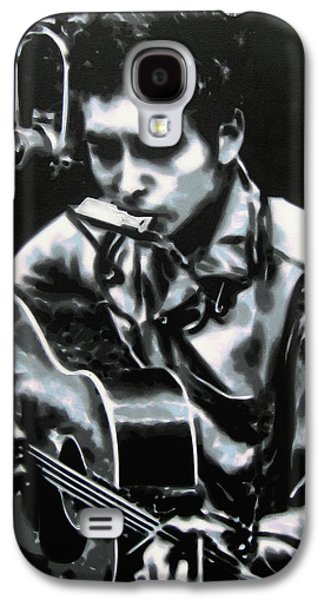 Bob Dylan Paintings Galaxy S4 Cases - The answer my friend is blowin in the wind Galaxy S4 Case by Luis Ludzska