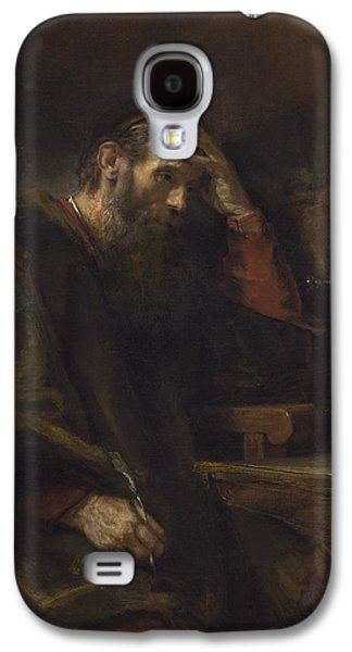 The Followers Paintings Galaxy S4 Cases - The Apostle Paul Galaxy S4 Case by Rembrandt Van Rijn