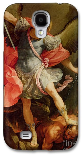The Archangel Michael Defeating Satan Galaxy S4 Case by Guido Reni