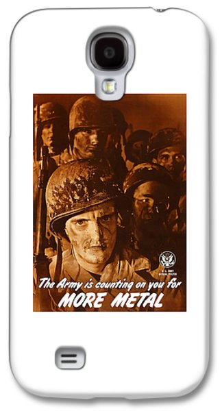 Army Mixed Media Galaxy S4 Cases - The Army Is Counting On You  Galaxy S4 Case by War Is Hell Store