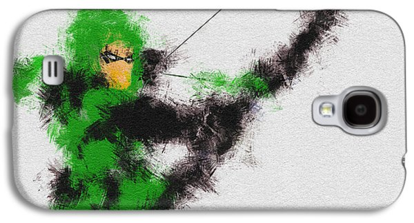 Character Portraits Galaxy S4 Cases - The Arrow of Justice Galaxy S4 Case by Miranda Sether