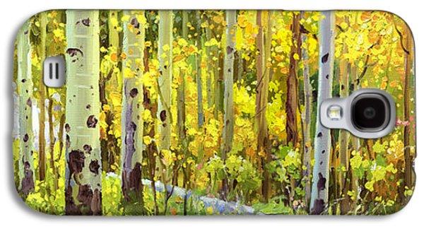 The Autumn Road..... Galaxy S4 Case by Gary Kim
