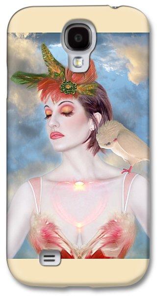 Dreamscape Galaxy S4 Cases - The Avian Dream - Self Portrait Galaxy S4 Case by Jaeda DeWalt