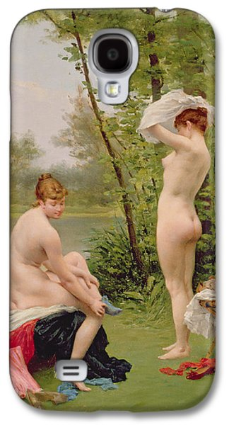 Lesbian Paintings Galaxy S4 Cases - The Bathers Galaxy S4 Case by Jules Scalbert