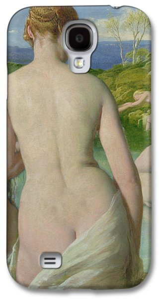 Lesbian Paintings Galaxy S4 Cases - The Bathers Galaxy S4 Case by William Mulready