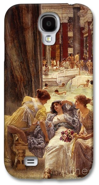 Columns Galaxy S4 Cases - The Baths of Caracalla Galaxy S4 Case by Sir Lawrence Alma-Tadema