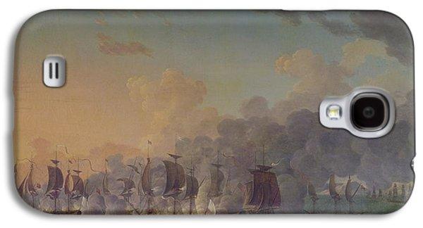 The Battle Of Louisbourg On The 21st July 1781 Galaxy S4 Case by Auguste Rossel De Cercy