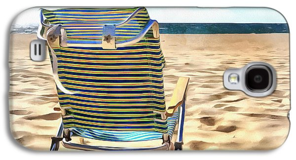 The Beach Chair 2 Galaxy S4 Case by Edward Fielding