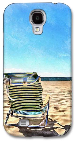 The Beach Chair Galaxy S4 Case by Edward Fielding