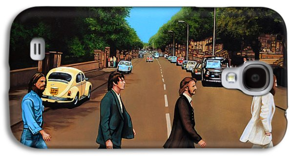 Beatles Galaxy S4 Cases - The Beatles Abbey Road Galaxy S4 Case by Paul Meijering