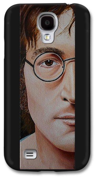 Beatles Galaxy S4 Cases - The Beatles John Lennon Galaxy S4 Case by Vic Ritchey