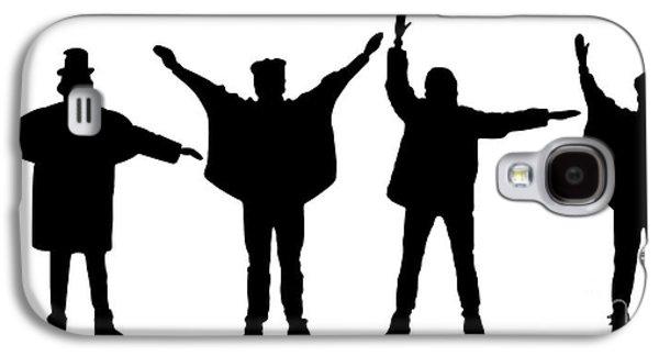 Beatles Digital Art Galaxy S4 Cases - The Beatles No.07 Galaxy S4 Case by Caio Caldas