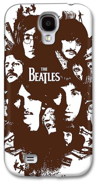 Beatles Digital Art Galaxy S4 Cases - The Beatles No.15 Galaxy S4 Case by Caio Caldas