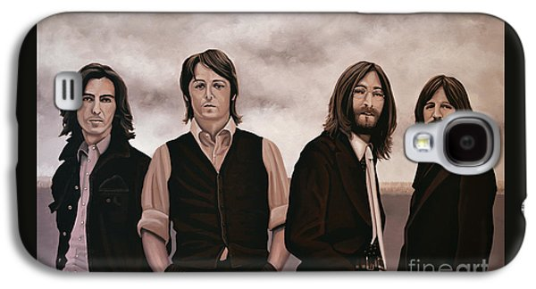 Music Paintings Galaxy S4 Cases - The Beatles Galaxy S4 Case by Paul Meijering
