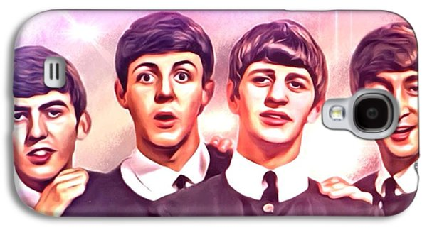 Beatles Galaxy S4 Cases - The Beatles Portrait Galaxy S4 Case by Scott wallace