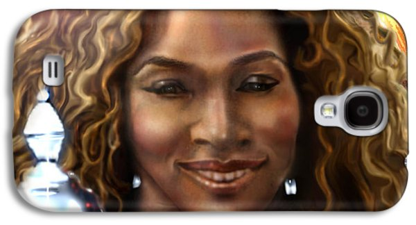 The Beauty Victory That Is Serena Galaxy S4 Case by Reggie Duffie