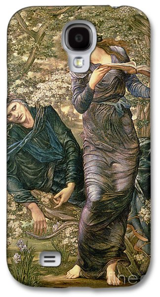Pre-raphaelites Galaxy S4 Cases - The Beguiling of Merlin Galaxy S4 Case by Sir Edward Burne-Jones