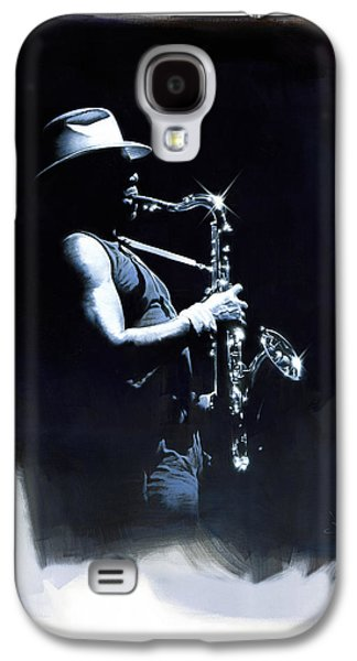 Clarence Paintings Galaxy S4 Cases - The Big Man Galaxy S4 Case by David Farren