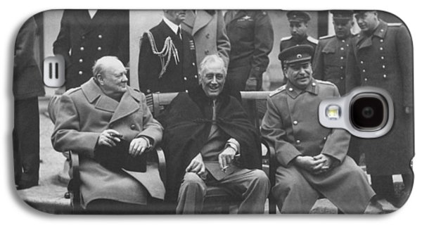 The Big Three -- Ww2 Leaders Galaxy S4 Case by War Is Hell Store