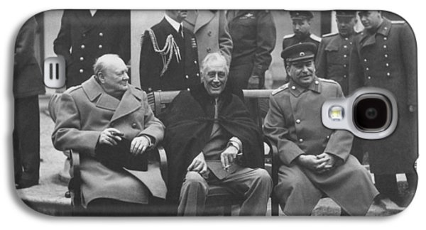 Franklin Galaxy S4 Cases - The Big Three -- WW2 Leaders Galaxy S4 Case by War Is Hell Store
