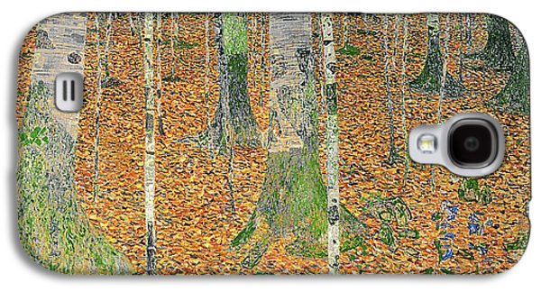 The Birch Wood Galaxy S4 Case by Gustav Klimt