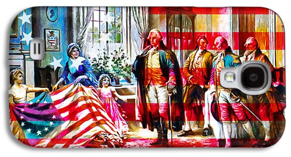 Betsy Galaxy S4 Cases - The Birth Of Old Glory With Flag 20150710 Galaxy S4 Case by Wingsdomain Art and Photography