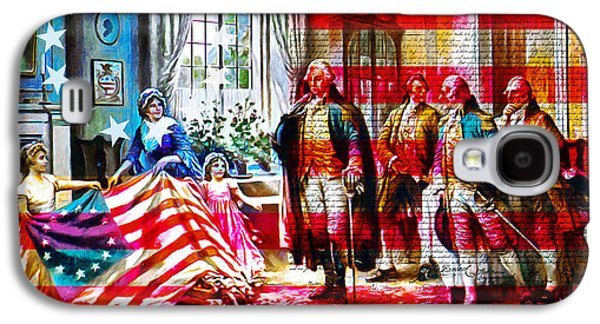 Betsy Galaxy S4 Cases - The Birth Of Old Glory With Flag And The Declaration Of Independence 20150710 Galaxy S4 Case by Wingsdomain Art and Photography