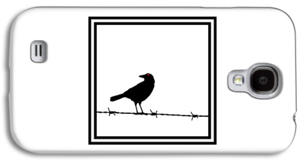 Electrical Photographs Galaxy S4 Cases - The Black Crow Knows T-shirt Galaxy S4 Case by Edward Fielding