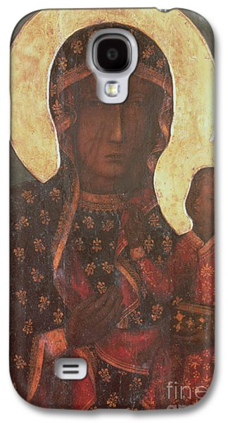 Byzantine Paintings Galaxy S4 Cases - The Black Madonna of Jasna Gora Galaxy S4 Case by Russian School