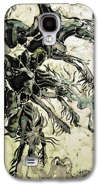 Fantasy Tapestries - Textiles Galaxy S4 Cases - The Black Riders Descend Galaxy S4 Case by Carol  Law Conklin